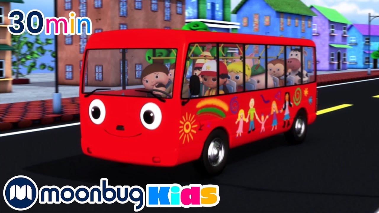 Wheels On The Bus   Moonbug Kids   Cars   Songs for Kids