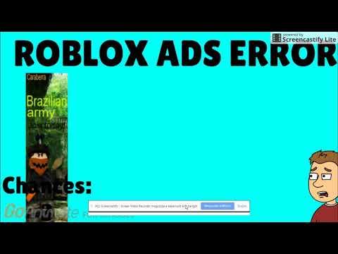 Roblox ads error GA 8