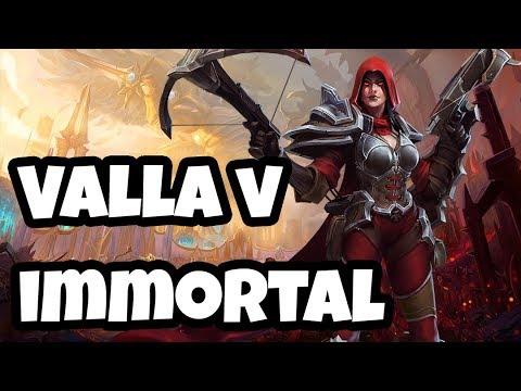 Valla vs Immortal! Valla monster hunter damage on Battlefield of Eternity! Heroes of the Storm HL
