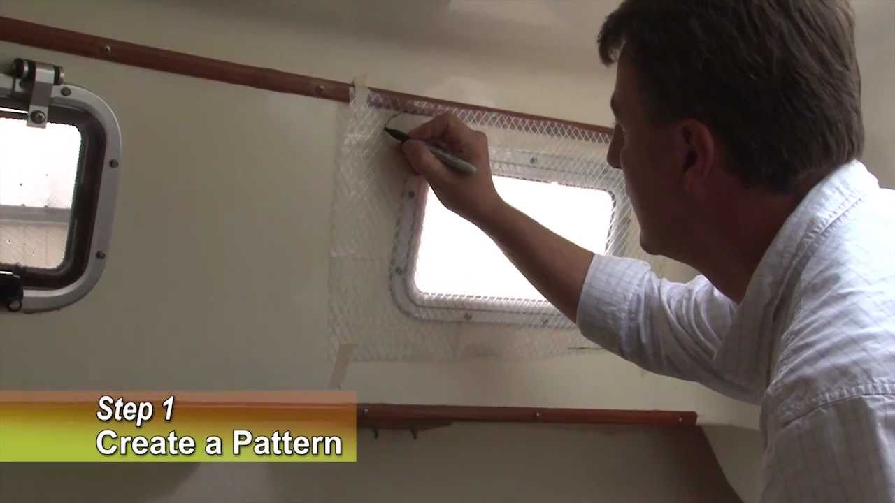 make your own snap on window curtain panels for your boat - youtube