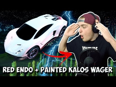 INSANE CRIMSON ENDO + PAINTED KALOS WHEEL WAGER! | 1v1 Rocket League vs FRZ Icey