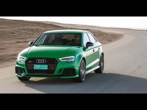 Driving the new 2018 Audi Sport RS 3 in Oman!