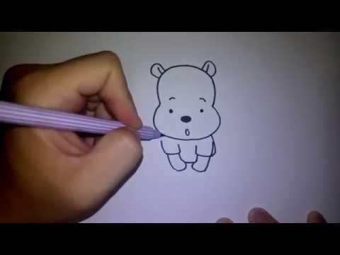 วาดรูป หมีพูห์ ง่ายๆ by วาดการ์ตูนกันเถอะ สอนวาดรูป การ์ตูน