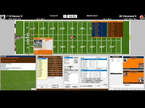 Denver Broncos 2015 vs Cleveland Browns 1965 1st QRT