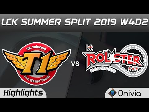 SKT vs KT Highlights Game 1 LCK Summer 2019 W4D2 SK Telecom T1 vs KT Rolster LCK Highlights by Onivi