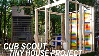 Cub Scouts In Ma Build A Tiny House/cabin W/deek To Raise Funds...