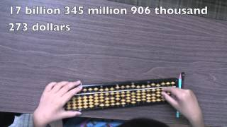 Amazing abacus addition by Japanese girl, age 7
