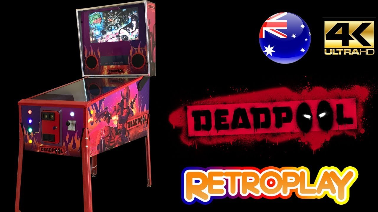 Deadpool Virtual Pinball Machine With Plunger, Nudge and Tilt - Made In  Australia by RetroPlay