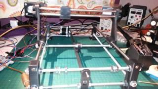 3D printed laser cutter/engraver. 3dpBurner. First