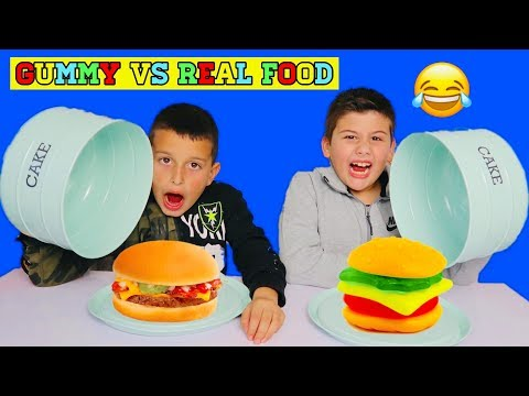Gummy VS Real Food Challenge /Famous Toli