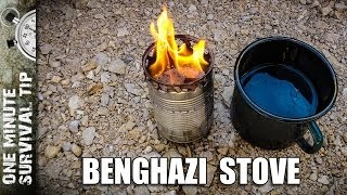 The Benghazi stove - one minute survival tip