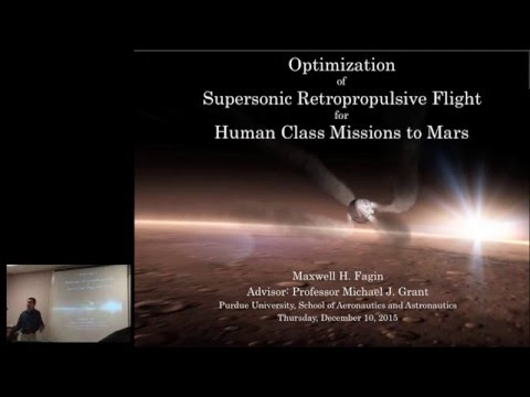 Thesis Defense, Max Fagin: Supersonic Retropropulsion for Mars EDL