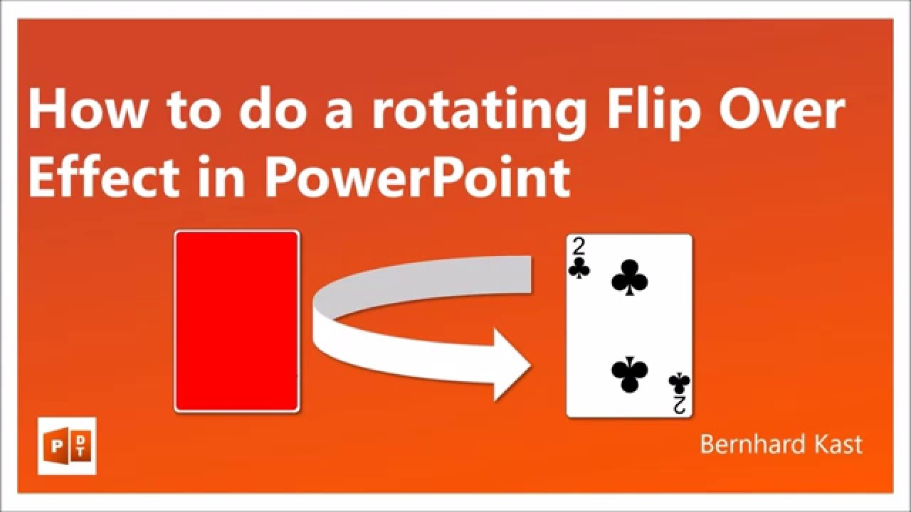 How to do a rotating flip over effect in powerpoint youtube ccuart Choice Image