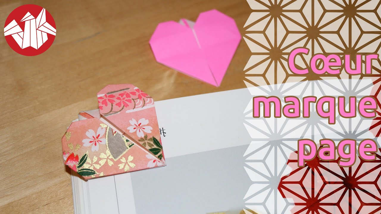 origami coeur marque page heart bookmark senbazuru youtube. Black Bedroom Furniture Sets. Home Design Ideas