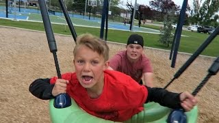 CRAZY PLAYGROUND RIDE!!!