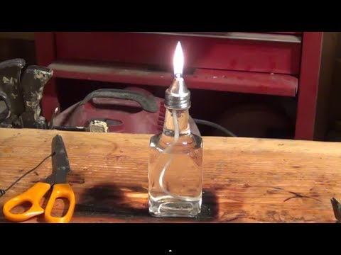 How to make a inexpensive oil lamp / candle - HD