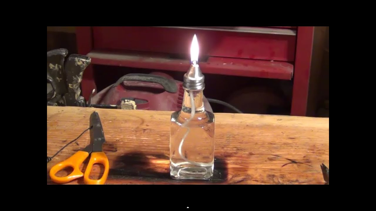 How To Make A Inexpensive Oil Lamp / Candle   HD
