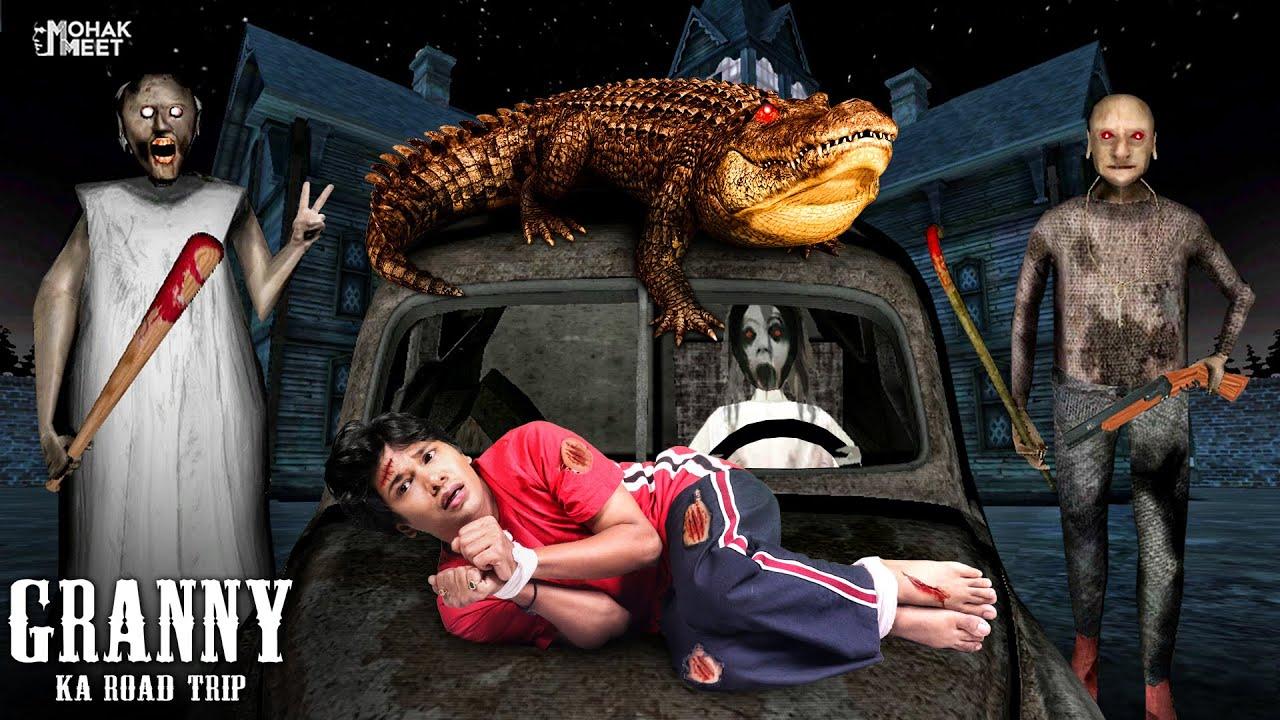 GRANNY KA ROAD TRIP SHORT FILM : ग्रैनी | HORROR GAME GRANNY : CHAPTER 3 - SLENDRINA || MOHAK MEET