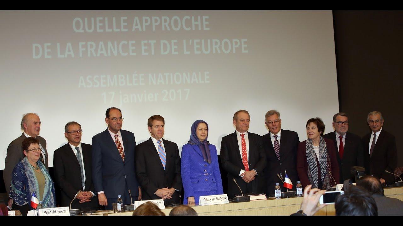 Maryam Radjavi à l'Assemblée nationale française - Bouleversements au Moyen‐