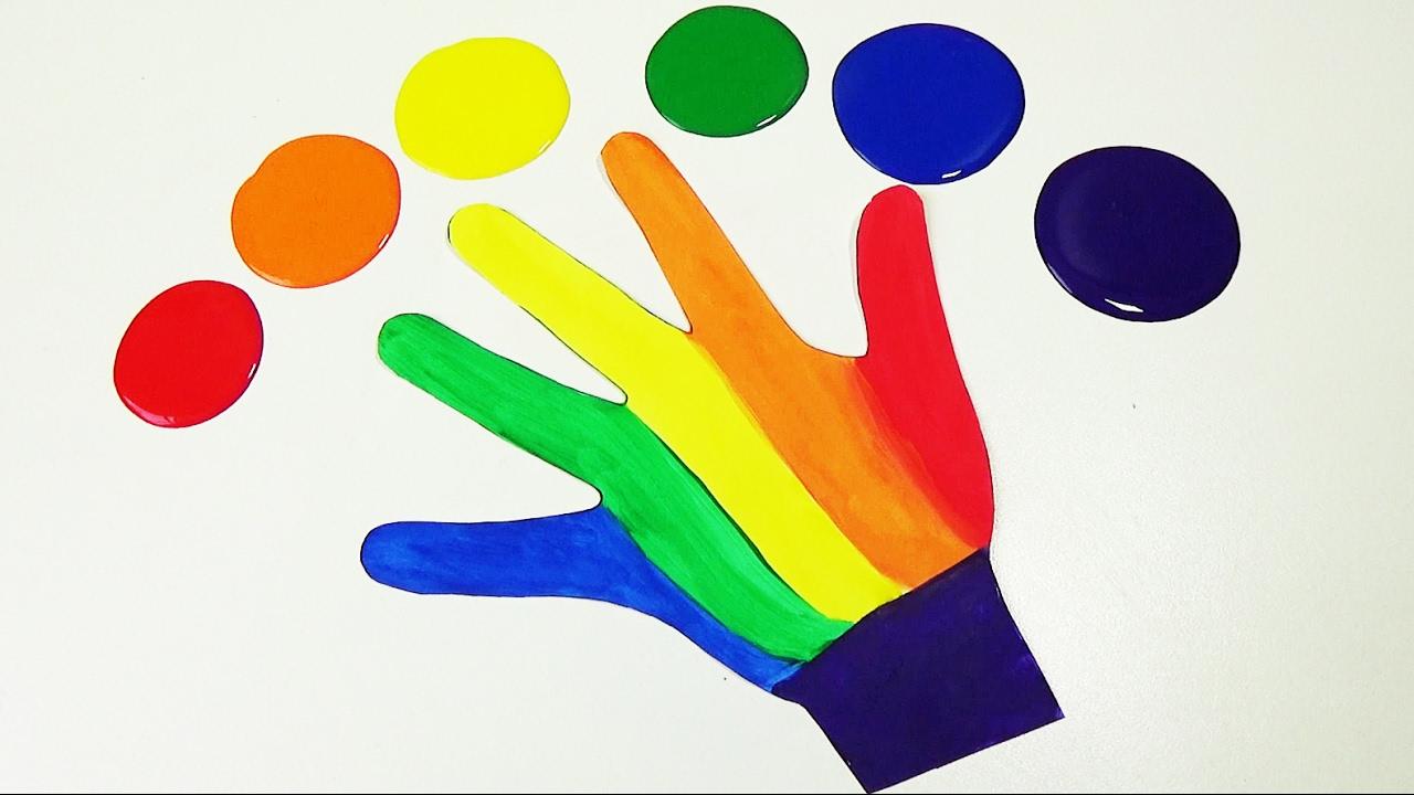 Aprende los colores pintando los dedos de la mano con - Ninos pintando con las manos ...