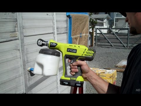 ryobi 18 volt pro tip paint sprayer youtube. Black Bedroom Furniture Sets. Home Design Ideas