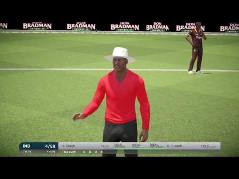 INDIA VS WEST INDIES 2017 3RD ONE DAY INTERNATIONAL 2017 IN DON BRADMAN CRICKET 17 PS4