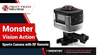 Monster Vision Action Sports Camera with RF Remote Product Review  – NTR