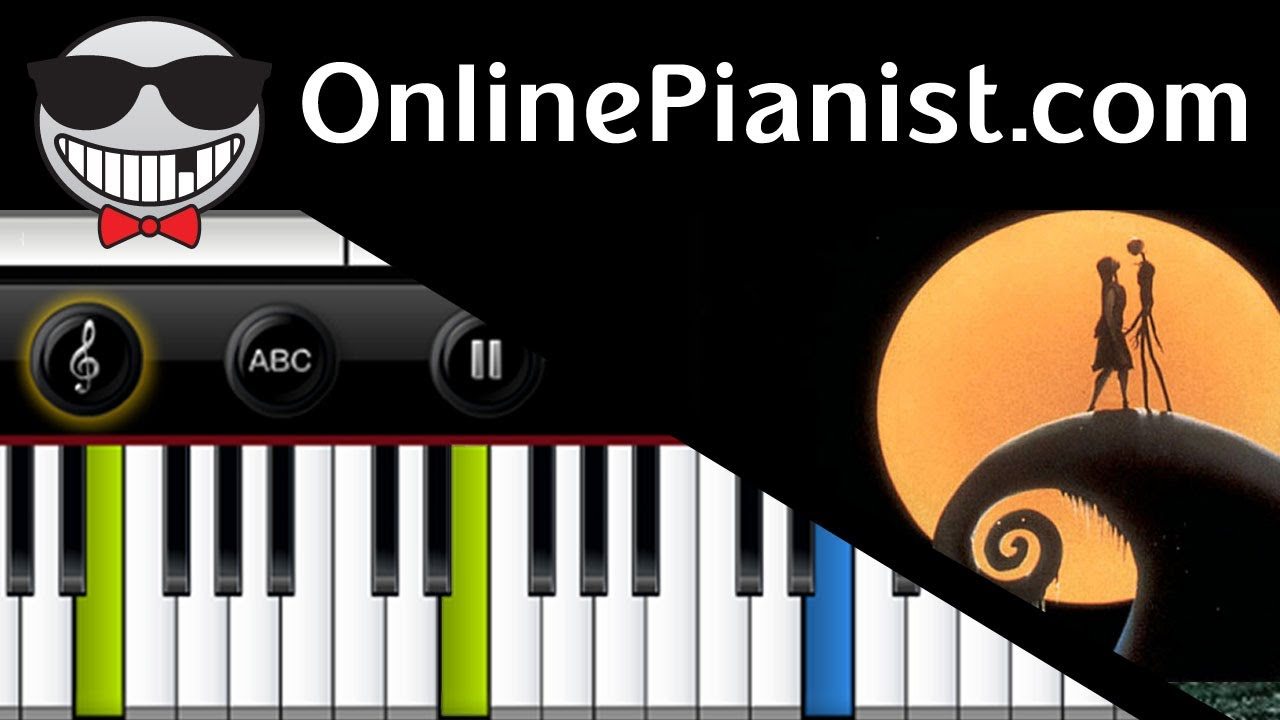 this is halloween piano tutorial the nightmare before christmas by danny elfman how to play youtube
