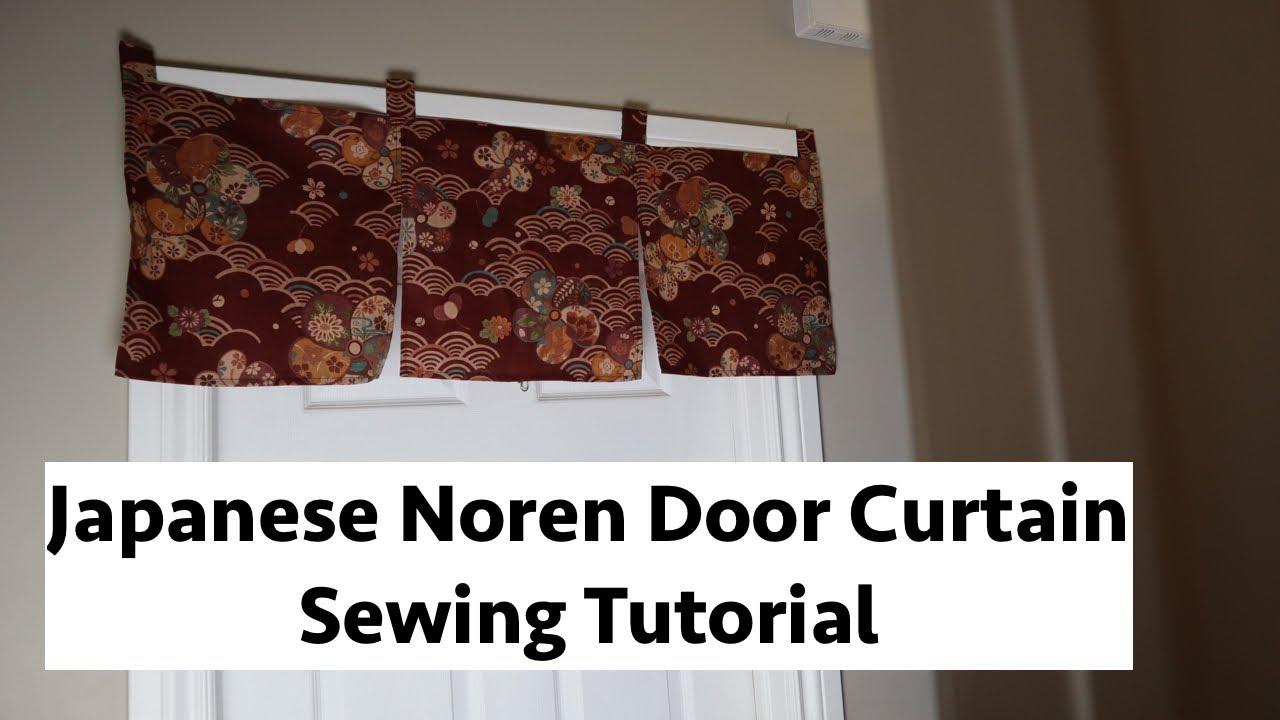 noren japanese door curtain sewing tutorial