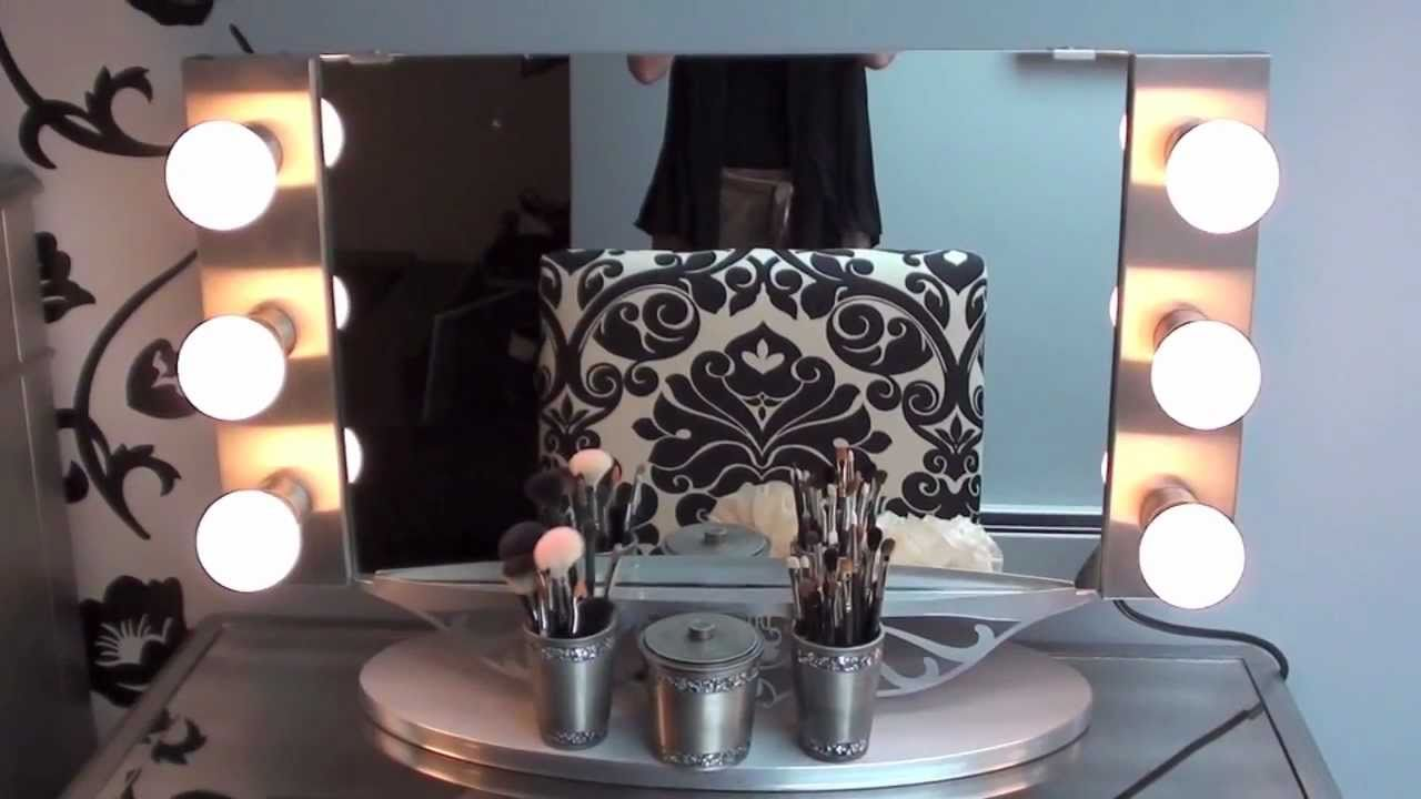 Vanity Girl Hollywood Mirror review && Hayworth vanity - YouTube