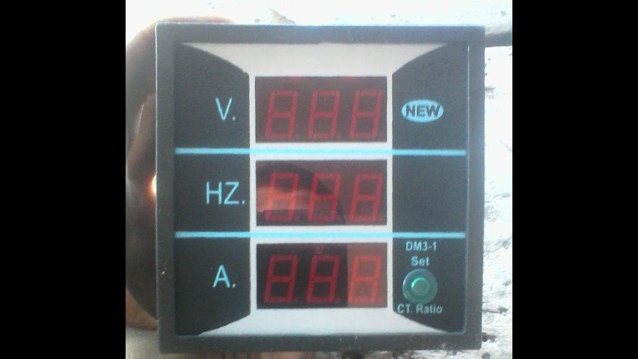 medium resolution of digital panel meter 3 in one ampere ac current voltage hz youtube ammeter hz wiring with diagram voltmeter ammeter hz meter wiring