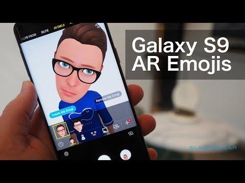 Samsung AR Emoji demo on the Galaxy S9 - YouTube