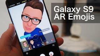 Samsung AR Emoji démo sur le Galaxy S9