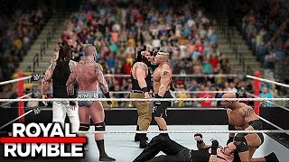 Wwe royal rumble 2017 - 30 man royal rumble match! 2k17 prediction (custom)