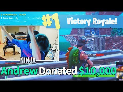 Donating $10,000 To Fortnite Streamers If They Win (Ninja)