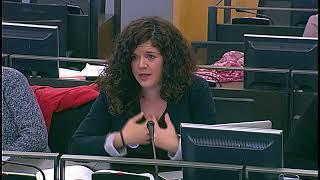 Sofía Castañón en la Comisión de Igualdad el 12 de diciembre