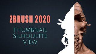 Thumbnail or Silhouette View Novidade do ZBrush 2020