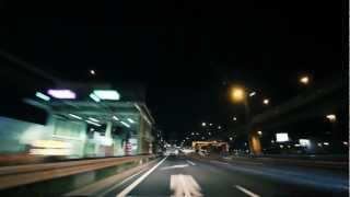 (HD) Night drive in Tokyo 02 -夜の首都高 C1→台場線→湾岸線→深川線→向島線-