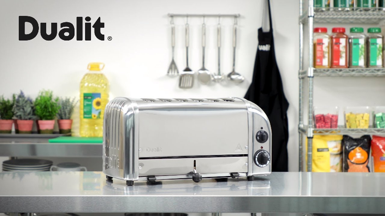 Black Dualit 6 Slice Classic Toaster