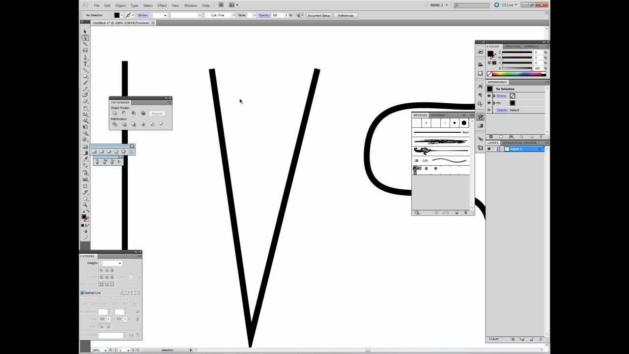Tutorial On How To Create Sharp Line Taper Endpoints In Adobe Illustrator  Swiftyspade
