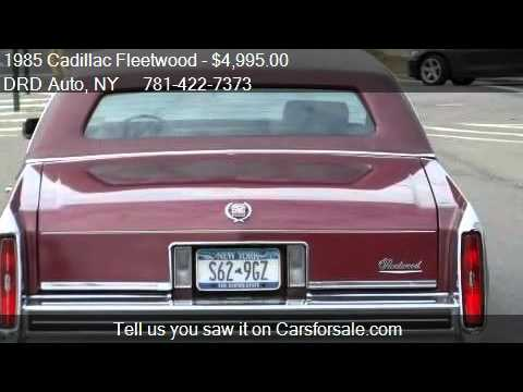 1985 Cadillac Fleetwood DElegance  BROUGHAM  for sale in  YouTube
