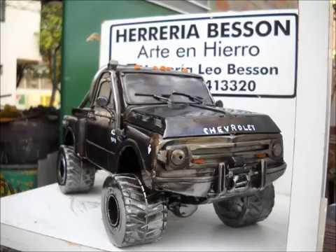 Chevrolet El Paso >> Artesanias en Hierro , Chevrolet C-10 V8 4 x 4 ( Paso a Paso) - YouTube
