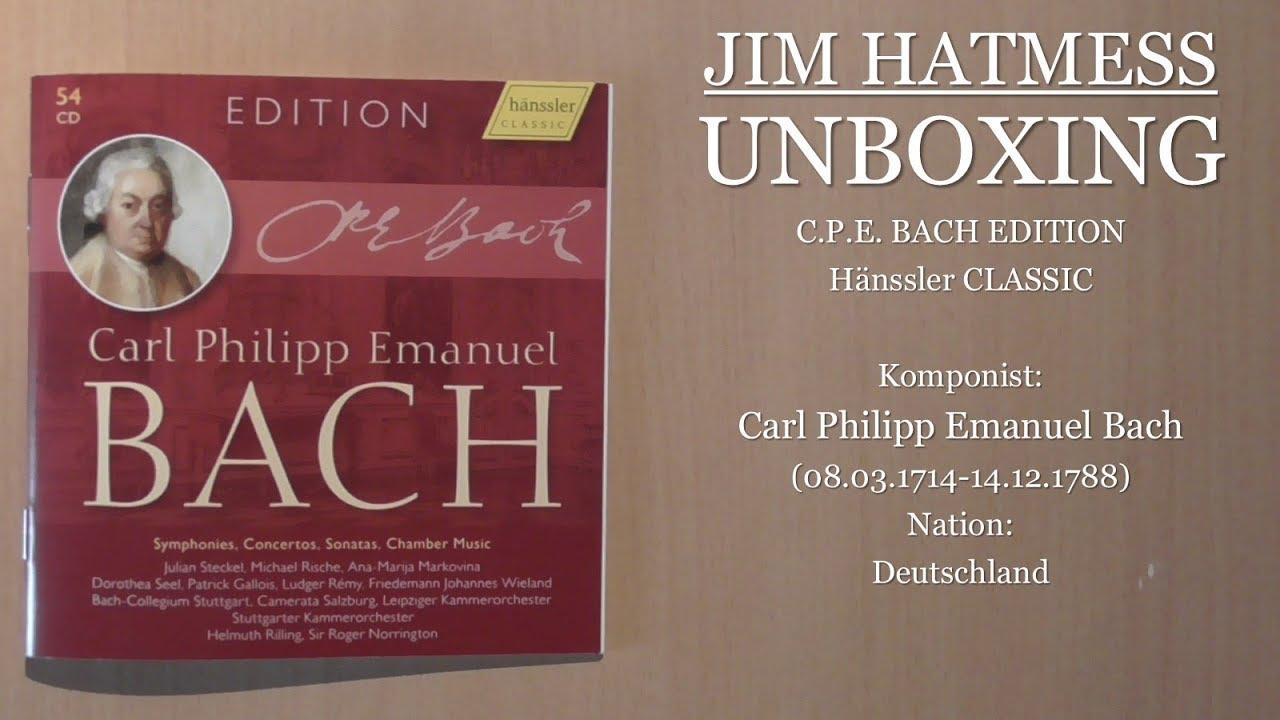 Unboxing: Carl Philipp Emanuel Bach Edition (Hänssler Classic)
