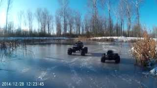 Gambar cover Traxxas Summit, Stampede 4x4 vxl & Slash 4x4, playing on thin ice