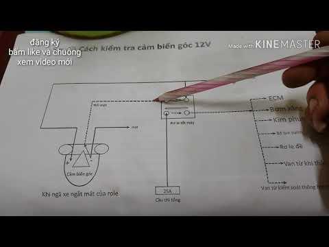 Cảm Biến Góc 12v Trên Xe Honda / 12v Angle Sensor On Honda/ Kênh Sửa Xe Máy