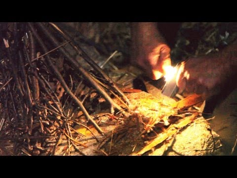 How to Make a Fire with Flint & Steel | Survival Skills