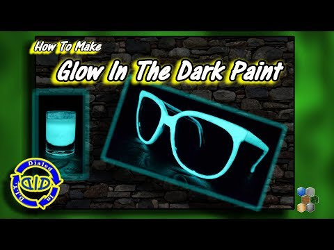 Make Glow In The Dark Paint & DIY Bright Glow Glasses