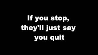 Kelly Clarkson-You Can't Win lyrics