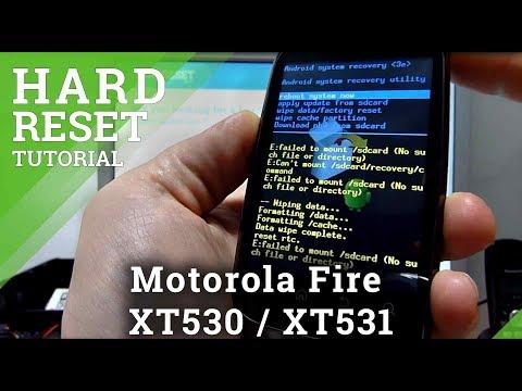 Hard Reset Motorola Fire XT530 / XT531