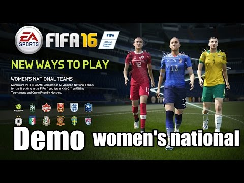FIFA 16 Demo Gameplay United States Vs Germany 3-2 Women's National